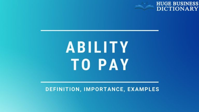 Ability To Pay