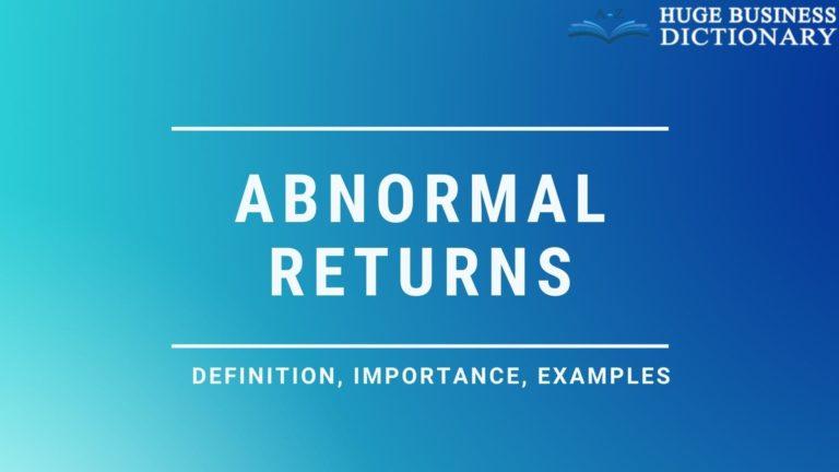 Abnormal Returns