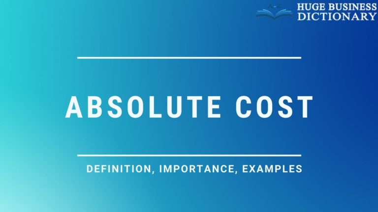 Absolute cost