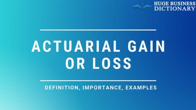 Actuarial Gain Or Loss