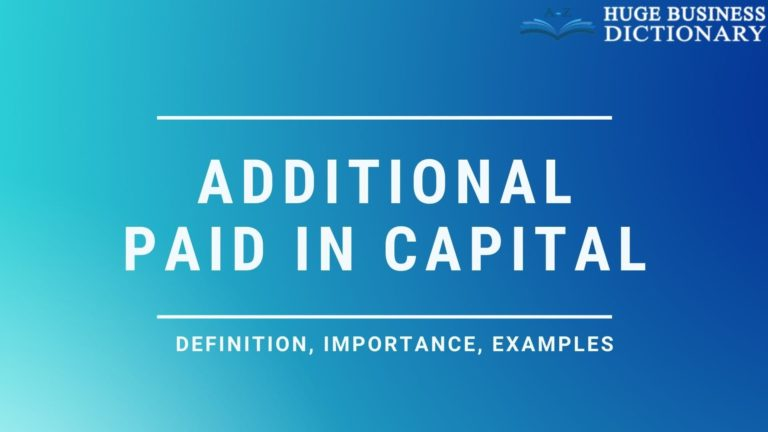 Additional Paid In Capital