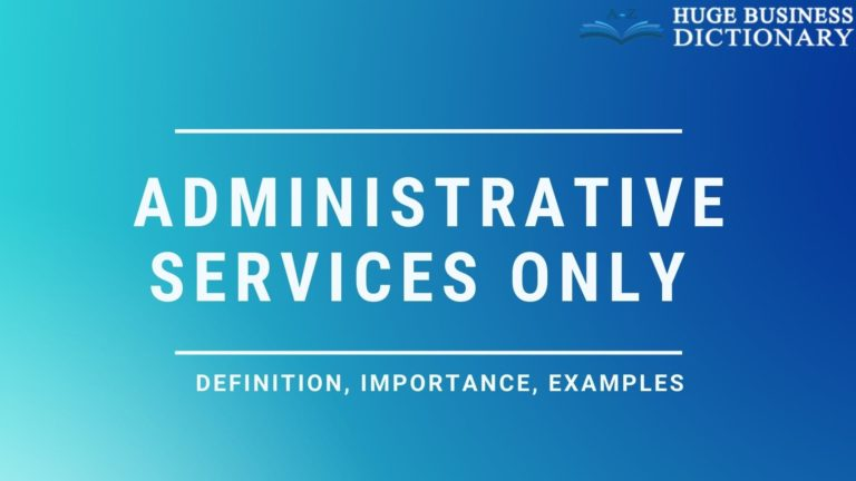 Administrative Services Only