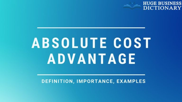 absolute-cost-advantage