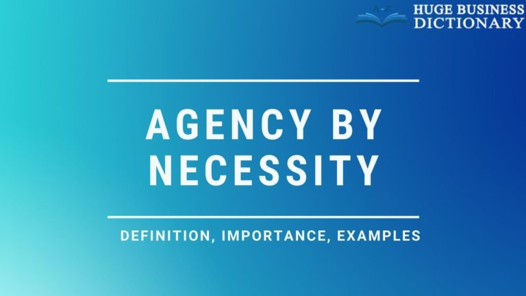 Agency By Necessity