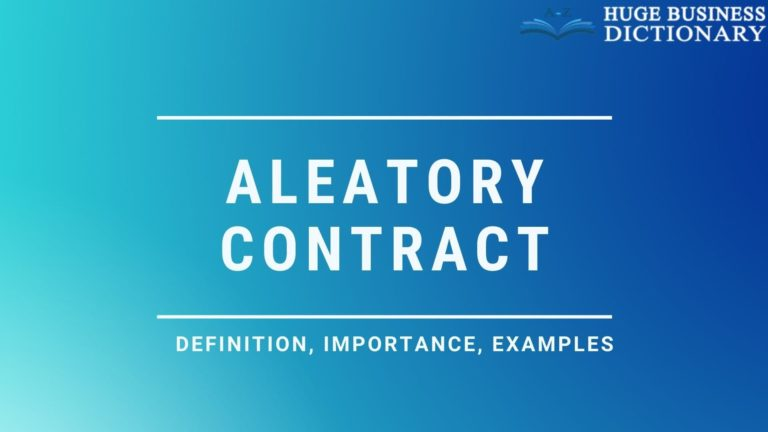 Aleatory Contract