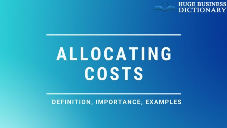 Allocating Costs