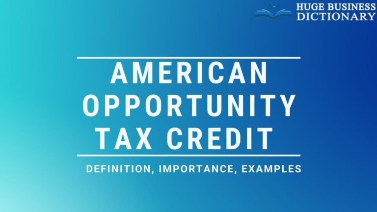 American Opportunity Tax Credit (AOTC)