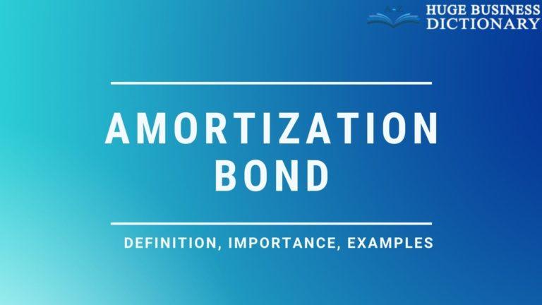 Amortization Bond