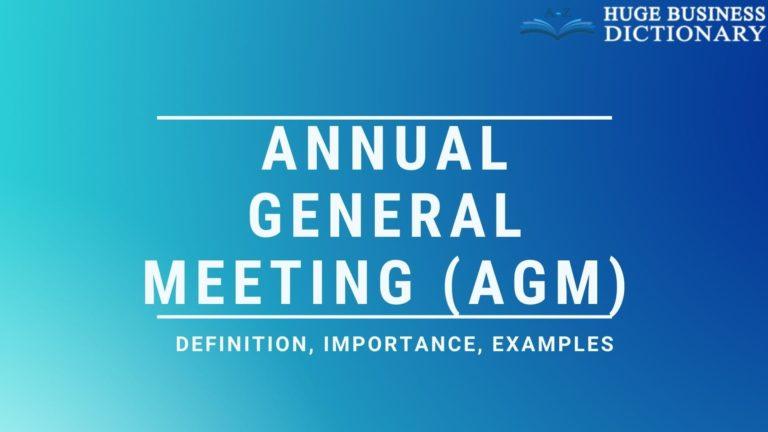 Annual General Meeting (AGM)