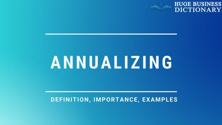 Annualizing