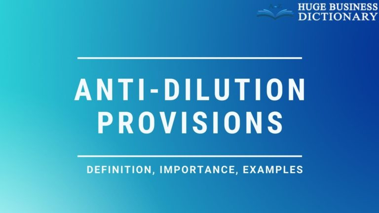 Anti Dilution Provisions