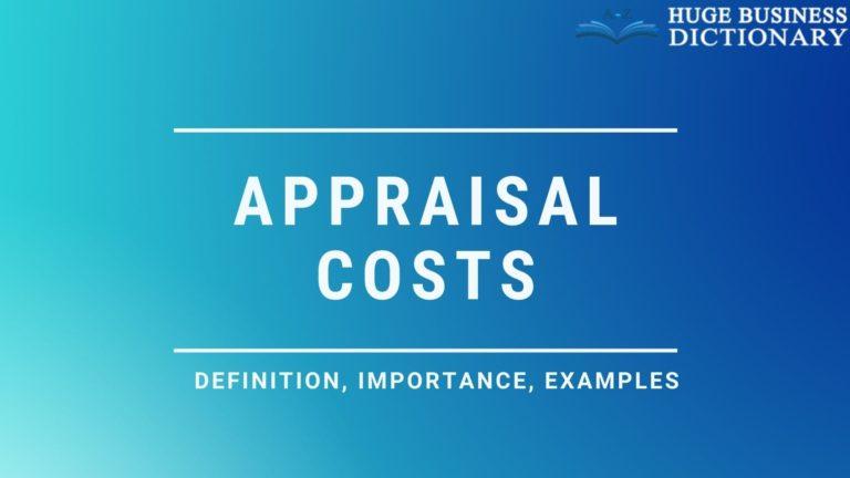 Appraisal Costs