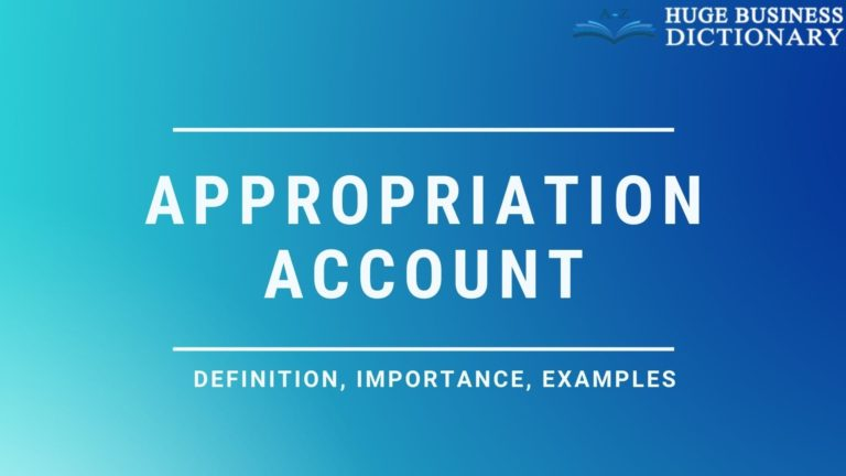 Appropriation Account