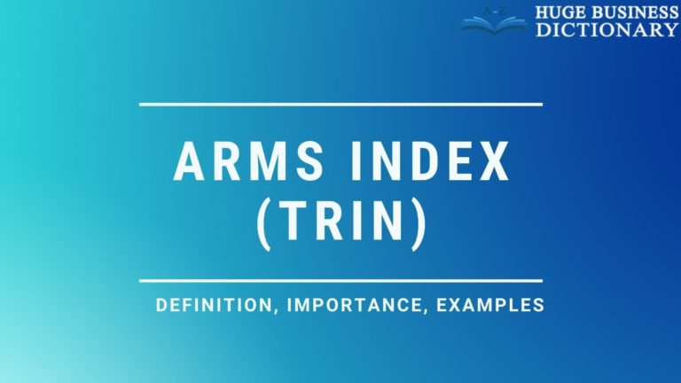Arms Index (TRIN)