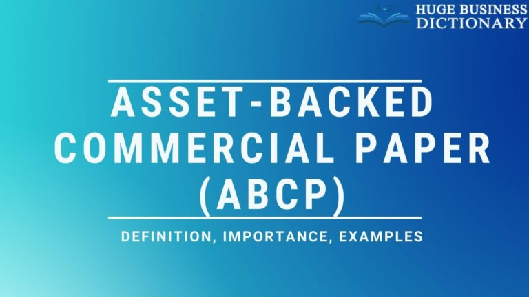 Asset-Backed Commercial Paper